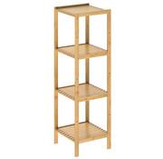 Casaria Casaria Staande badkamer/ woonkamer kast bamboe 110x33x33cm