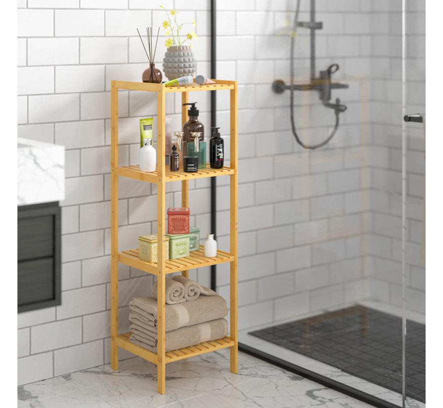 Casaria Staande badkamer/ woonkamer kast bamboe 110x33x33cm
