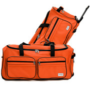 Deuba Deuba Grote reistas met Trolley-functie 85L oranje - Hangslot