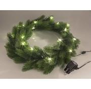 Generic LED Kerstkrans met 50 lampjes, ca 50 cm, voor deuren en vensters
