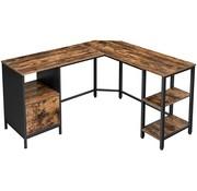 Loods 1 Loods 1 Bureautafel met 2 planken bruin/zwart
