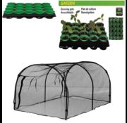 Pro Garden Pro Garden Kweekkas van gaas - 120x80x60cm INCLUSIEF kweekpotten