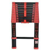Herzberg Professional Tools Herzberg - 3.8M Telescopische Ladder inclusief vergrendelingsmechanisme met duimknoppen  - Gekleurd - Lichtgewicht - HG-BK380
