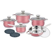 Herenthal Herenthal - Complete 12-delige Pannenset - RVS - Roze