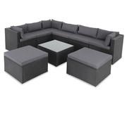 Casaria Casaria Polyrotan XL loungeset 26-delig. Zwart-antraciet