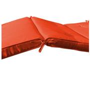 Detex Tuinkussen voor ligbed met Lussen - Oranje - 196x55x5cm