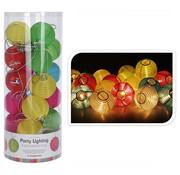 Pro Graden Pro Garden Feestverlichting - voor Binnen en Buiten - 20  LED Lampjes - Lampionnen - Multicolor