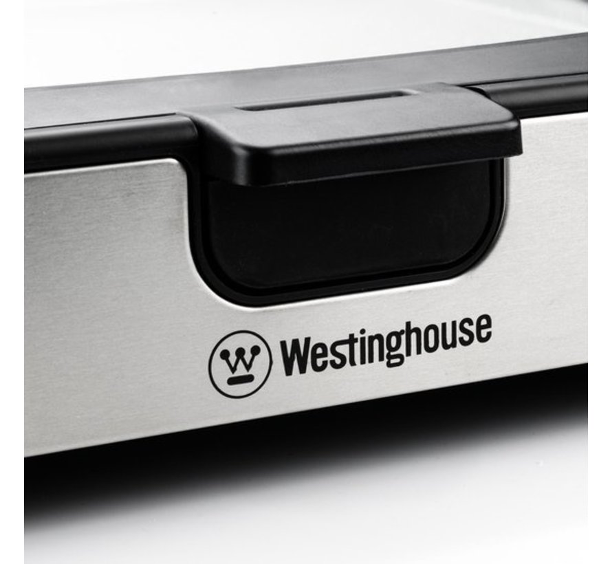 Westinghouse RVS Elektrische Grillplaat - Tafelgrill - 1800W - 52,8x12,3x37,7cm - Zwart Marmer