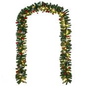 Casaria Casaria Kerstkrans 10m met 160 LED's incl. decoratie voor binnen/buiten