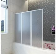 VXL Badscherm 3 panelen vouwbaar 141 x 132 cm