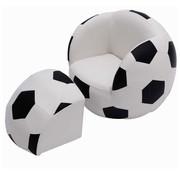 HOMCOM HOMCOM Bank in vorm van een voetbal met poef 51,5 x 47,5 x 43 cm