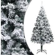 vidaXL vidaXL Kunstkerstboom met sneeuwvlokken 240 cm PVC groen