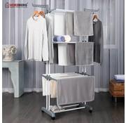 Herzberg Herzberg HG-8034GRY: Moving kledingrek - Grijs