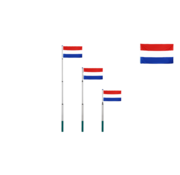 Deuba Deuba Telescopische Vlaggenmast 630cm met Nederlandse vlag - Nederland vlag - 90x150cm