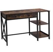 Loods 1 Loods 1 Industriele Bureau/Werktafel/tafel met lade en opbergplanken - 115x60x76cm