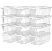 Loods 1 Loods 1 Opbergdoos/ Opbergbox met Deksel - 12 stuks- Doorzichtig - 29,5 x 16,5 x 12,5 cm