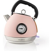 Nedis Nedis Waterkoker - 1,8L - 2200W - Soft-touch - Roze