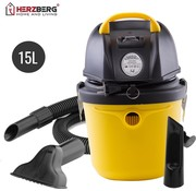 Herzberg Home & Living Herzberg Nat- en Droogzuiger / stofzuiger - 15L - 1400W - HG-8020