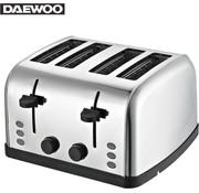 Daewoo Daewoo Brede Roestvrijstalen Broodrooster - 4 Lades en 4 Sneetjes - 1500W - SYM-1304