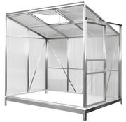 Deuba Deuba Serre met fundering/ Aluminium Tuinkas / Muurkas - met Goot - Schuifdeuren - Verplaatsbaar - 192 x 127 x 202cm