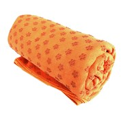 Mini-ten Yogahanddoek Ideaal voor hot yoga, Huidvriendelijk en absorberend - Oranje - 183x61cm - Anti-Slip