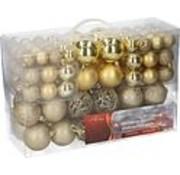 Christmas Gifts Kerstballen set - 100 ballen - Plastic / Kunststof | Goud