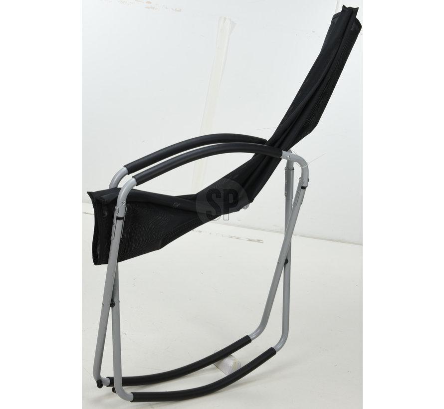 Pro Garden Opvouwbare Schommelstoel - Zwart - 70x90x98cm
