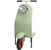 Ambiance Ambiance Decoratieve Halve Scooter met Plank - Mint groen