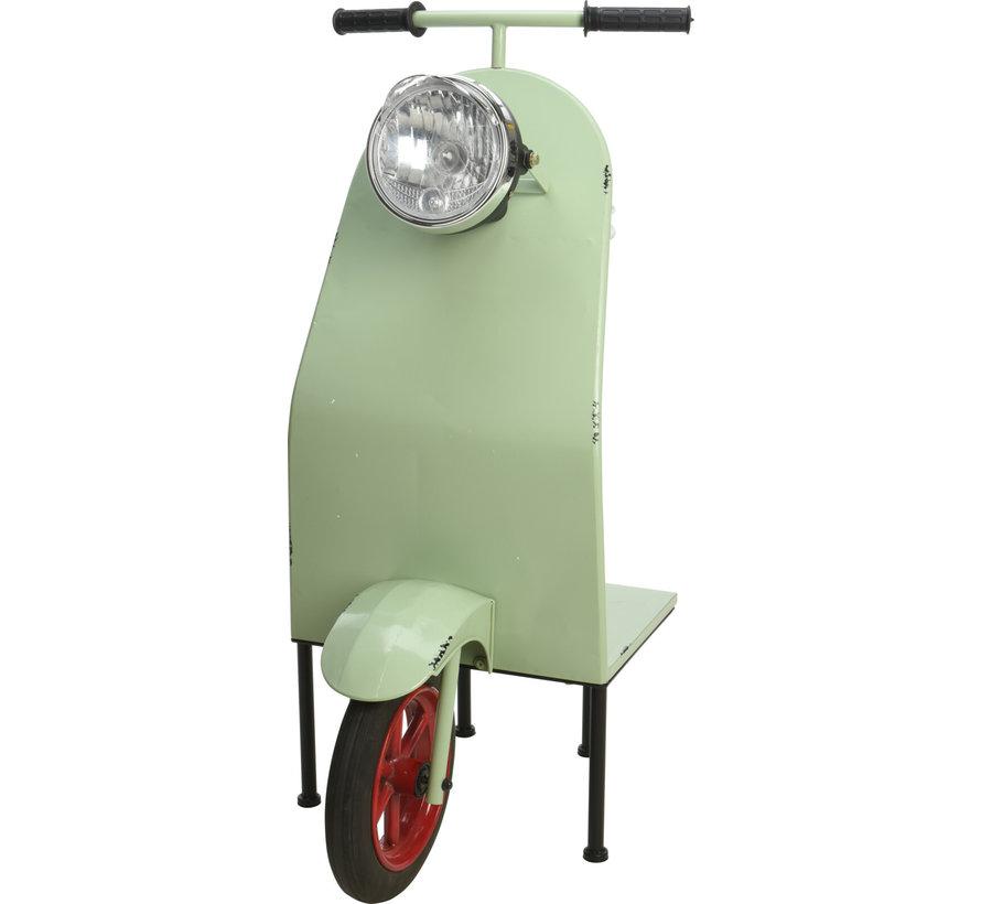 Ambiance Decoratieve Halve Scooter met Plank - Mint groen