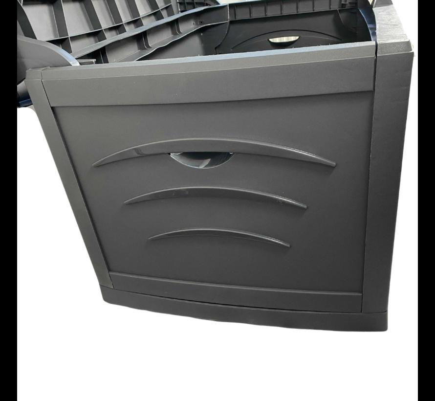 Pro Garden Kussenbox XL 120x75x65cm - 500 Liter - Antraciet - Made in France