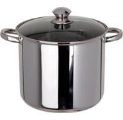 Excellent Houseware Excellent Houseware Soeppan/ Diepe Pan - 9 Liter - met Glazen Deksel