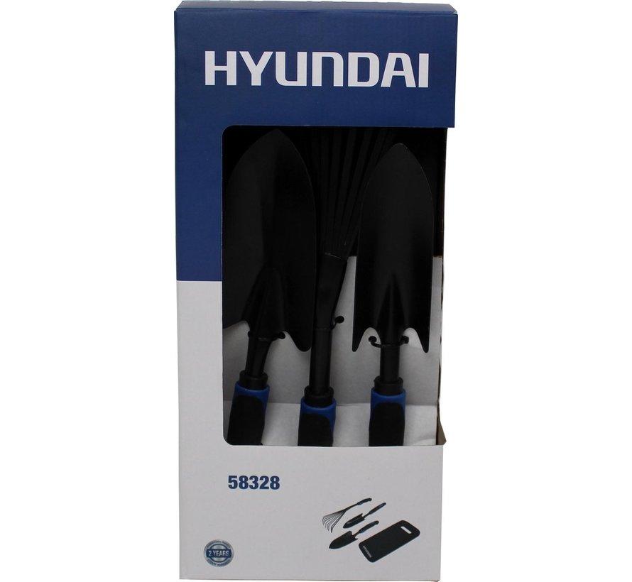 Hyundai 2-Delige Aluminium Snoeischaren set inclusief 4-Delige Tuingereedschap set