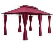 Casaria Casaria Paviljoen Topaz Rood 3x4m UV bescherming 50+