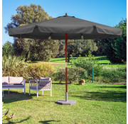 Kingsleeve Kingsleeve Parasol Antraciet Hout 330cm UV Bescherming 50+