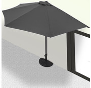 Kingsleeve Kingsleeve Halfronde Parasol Antraciet UV Bescherming 50+ - Zonder standaard