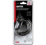 Lampa Lampa Raptor/ Cijferslot met spiraalsnoer - 150 cm - Helm slot- cijferslot combinatie - staalkabel slot- Slot voor fietshelm- Slot voor motorhelm- Slot voor Scooterhelm