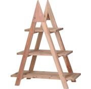 Ambiance Ambiance Plantenrek - Hout - 3 levels - driehoek