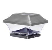 eZsolar Solarlamp voor tuinpaal RVS
