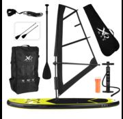 XQ max XQ Max Windsurf/ Sup board 305 cm - Complete set met draagtas - Max 150 kg - Zeil 2m² - Geel Zwart