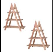 Pro Garden Ambiance Plantenrek - Hout - 3 levels - driehoek - 2 STUKS