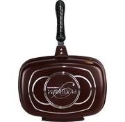 Platinum Platinum Dubbele pan / Grillpan - 32 cm - gietaluminium - omkeerbare grillpan - Bordeauxrood