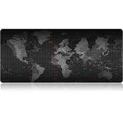 Geen. Geen. XXL 2-in-1 Onderlegger / Muismat - 40 x 90 cm - Antislip - Wereldkaart