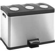 EKO EKO Pedaalemmer / Prullenbak - Mat RVS - 3x12 liter
