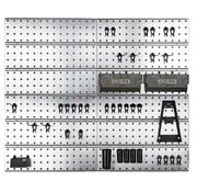 Raaco Raaco Super Clip Set -  Stalen Gereedschapswand - Opbergsysteem - 46-delig - 104 x 88 x 1.1 cm