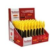 Toolland Toonbankdisplay Met 48 X 4-In-1-Schroevendraaier