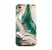 iDeal of Sweden Ideal of Sweden Telefoonhoes -  Golden Jade Marmer - iPhone  8/7/6/6S