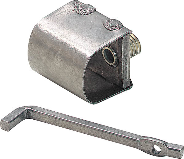 Toebehoren voor je zeis! * materiaal: staal * breedte: 30 mm * lengte: 35 mm * met ijzeren sleutel