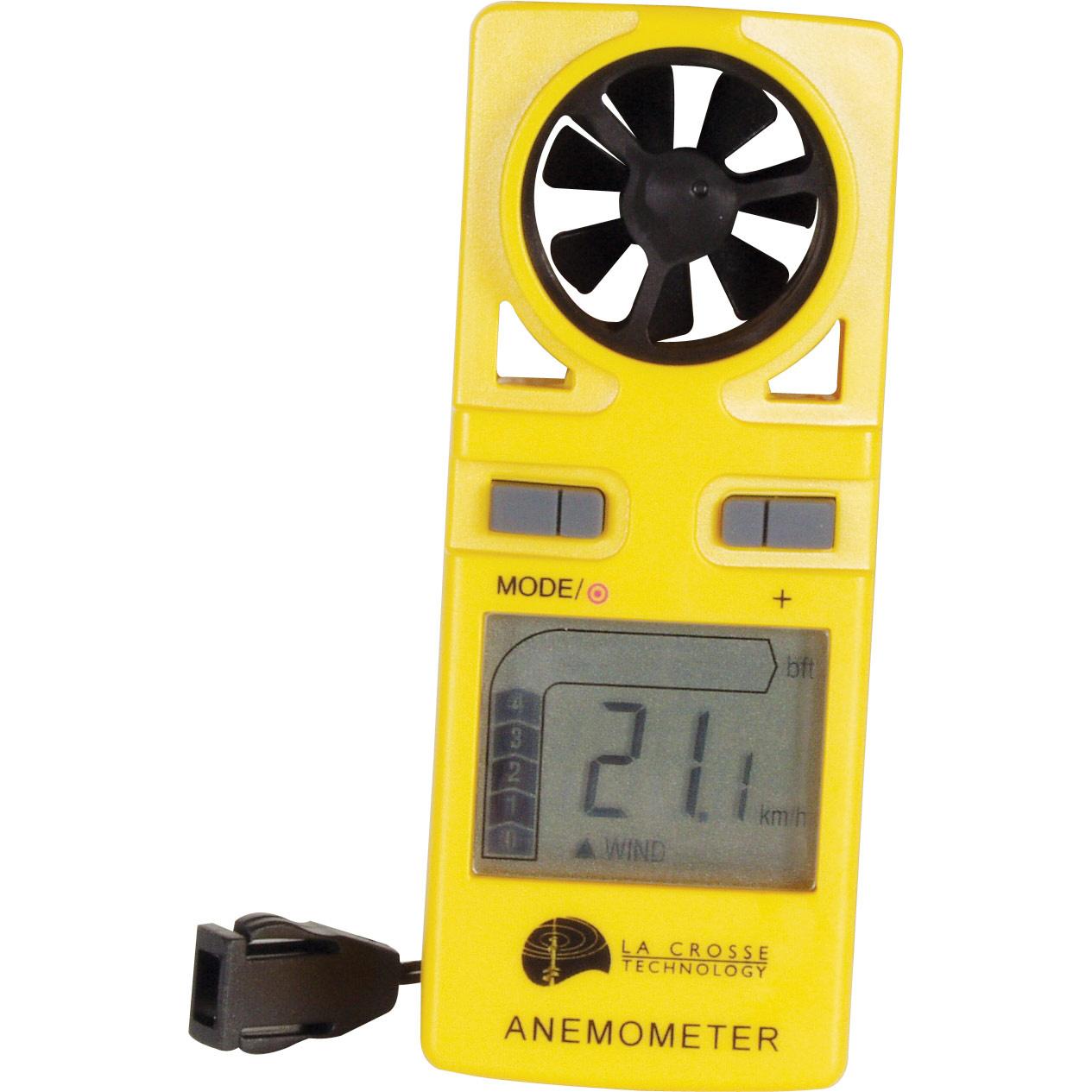 Kenmerken: * meten van windsnelheid: in mph, km/h of m/sec. * windsnelheid: weergegeven via bargraph met ...