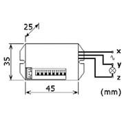 Velleman Mini Pir-Bewegingsdetector - Inbouw - 230Vac
