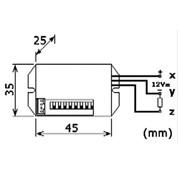 Velleman Mini Pir-Bewegingsdetector - Inbouw - 12 Vdc